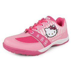 Normal0falsefalsefalseEN-USX-NONEX-NONEMicrosoftInternetExplorer4The Girls' Officially Licensed Hello Kitty Sport Shoes   are finally here! Made with synthetic leather, these comfortable shoes  are both fun and functional.  Featuring a Hello Kitty graphic and pink  stripes on the side, these  shoes will add a hint of Color: Pink/ PinkFor information regarding sizes, please refer to our shoe sizing chart.