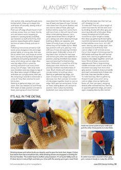 Simply Knitting Issue 134 2015 - 轻描淡写 - 轻描淡写 Knitting Stitches, Knitting Patterns Free, Knit Patterns, Free Knitting, Knitting Toys, Knitted Dolls, Crochet Toys, Knit Crochet, Stitch Drawing