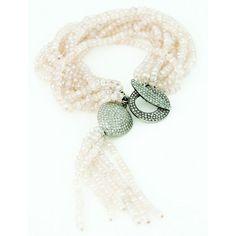Jordan Alexander Moonstone Bracelet with Tassel and Pave ($2,380) ❤ liked on Polyvore