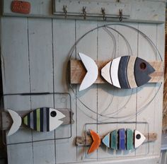 Sandrine Veirman Moon Fish, Fish and Fish Camouflage Palette Ceramics, driftwood, wood Recycling, wire