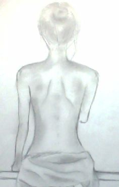 This is just a simple bare-back-view of a nude lady in cloth. I just decided to draw this because it seemed like a good thing to try to practice my sketching skills, getting proportion right and everything. It's just another image that popped up in my head I guess. Woman Drawing, Life Drawing, Figure Drawing, Drawing Sketches, Back Drawing, Sketch Painting, Sketchbook Inspiration, Bedroom Art, Drawing Techniques