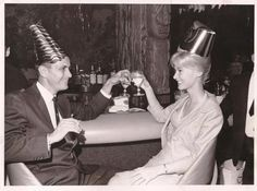 A couple celebrate New Year's Eve 1966 at the Outrigger Inn in St. Petersburg, Florida.