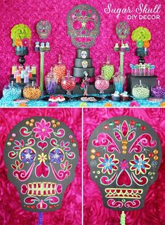 Trend Alert: DIY Day of the Dead Sugar Skull Party Decorations