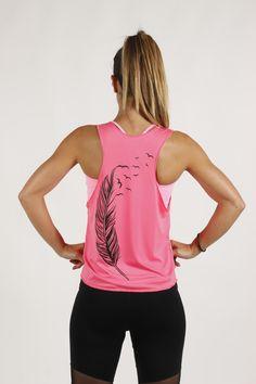 Camiseta Plumas Pink Sweet Sweat