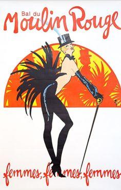 Moulin Rouge 1987, hängt im Gang an der Wand und ist nicht mehr wegzudenken.