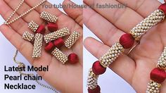 Latest Model pearl chain Necklace Making At Home||Silk thread Jewellery..