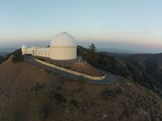 Lick Observatory overlooking San Jose, CA.