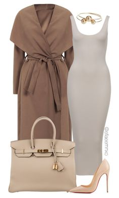 """Toning"" by efiaeemnxo ❤ liked on Polyvore featuring Hermès, Christian Louboutin and Topshop"