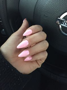 Beautiful Pink Stiletto nails