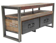 Beautiful reclaimed wood console.