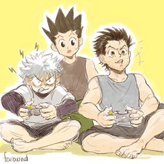 killua and ging bonding over video games