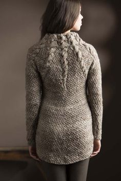 Fantastic textured winter sweater! Twelve Cables Pullover.