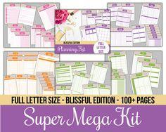 Super Mega Printables Kit  Full Letter Size  by IHeartPlanners