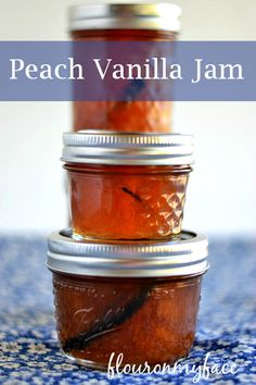 This Peach Vanilla Jam recipe is for all you Ball Jam and Jelly Maker users out there but you could very easily add a few vanilla beans to a pot of peach jam that you are making using traditional canning methods. Peach Vanilla Jam, Vanilla Recipes, Peach Jam, Jelly Recipes, Jam Recipes, Canning Recipes, Sweet Recipes, Healthy Recipes, Jars