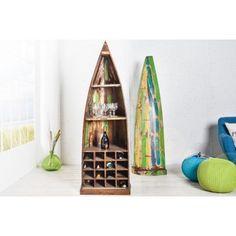 BALI - vacker hylla i form av en traditionell fiskebåt Borneo, Etagere Design, Baby Cinderella, Ladder Decor, Bookends, Modern Design, Bookcase, Shelves, Vintage