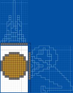 Minecraft Castle Blueprints, Minecraft Mobs, Minecraft Projects, Minecraft Architecture, Minecraft Buildings, Minecraft Pattern, Computer Logo, Construction Area, Minecraft Creations
