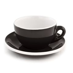 Cup & Saucer Black and White Cafe Style Cappuccino - Set of 6 - Cups & Cafe Wares - Cafe Supply & Support - Espresso Parts