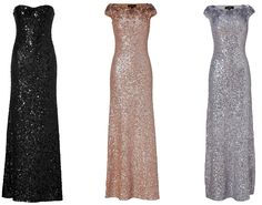 Mismatched Bridesmaids - Jenny Packham Glam Trio (or JUST the black or JUST the gold or both and just not silver haha)