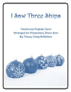 The Christmas carol, I Saw Three Ships, is arranged for elementary piano solo. The melody moves between hands to promote independent playing and dynamic contrast encourages expressive playing. 2 pages. Piano Solo, Sheet Music. Format: Sheet Music Single.