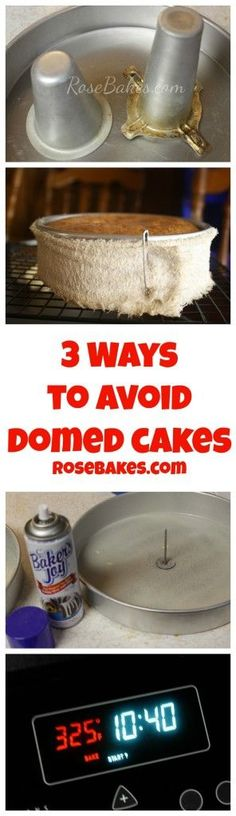 3 Ways to Avoid Domed Cakes - How to bake a level cake