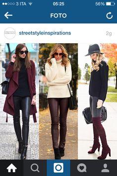 Bordeaux outfit