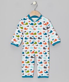 Take a look at this Teal Whale Organic Playsuit - Infant on zulily today!
