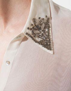 DIY.  appliques on collar. | Zara