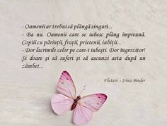 despre lacrimi şi Fluturi - Irina Binder ‪#‎iubescsacitesc‬ Quotations, Qoutes, Sad Stories, True Words, Birthday Quotes, Spiritual Quotes, Beautiful Words, Book Quotes, Motto