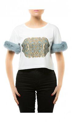 Powder Blue Fluffy Tee by Daniela D'Amico Latest Fashion, Womens Fashion, Buying Wholesale, Fashion Addict, Powder, Comfy, Tees, Designers, Blue