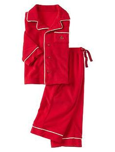 red fleece unisex pjs
