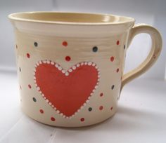 cup with orange heart