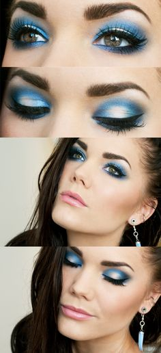 Dramatic blue!  Blue eyeshadow can look elegant(: