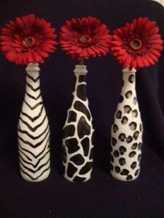 Cadeau Creatief met flessen (wild patroon)