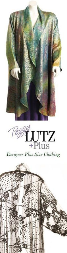 SHOP www.plus-size.com for  Unique Plus Size Clothing  Sizes 14 - 36 ready-to-wear and custom made.  xoxPeg #PeggyLutzPlus #plussizefashion #plussizemotherofthebride  #plussizespecialoccasion #plussizedesigner #plussizeclothing #plussizefashionista #plussizedesignerjackets  #fashionover50 #matureStyle #plussizewedding #plussizeshopping #plussizedesigneroutlet #plussizesale #plussize #womenstyle #artwear #style