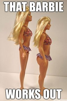 Workout Barbie.