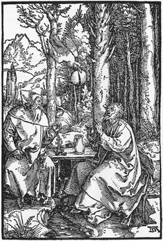 The Hermits St Anthony and St Paul : DURER, Albrecht : Art Images : Imagiva