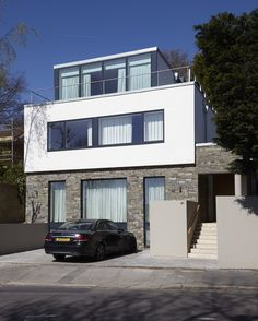 An overtly modernist design for a newly built house in Wimbledon.