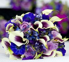 Blue wedding flowers, blue wedding bouquet, bridal bouquet, add pic source on comment and we will update it.