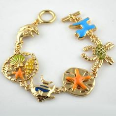 Beach Style Sea Fish Charms Bracelet