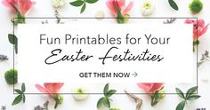Check out these fun free printables from #LifeWayWomen to help you host an Easter celebration!