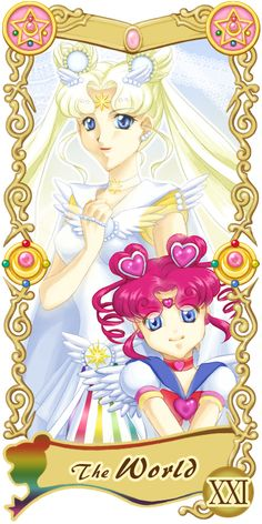Pretty Guardian Sailor Moon Original Tarot Cards: XXI - The World | by Ryukia @ Pixiv.net // #sailormoon