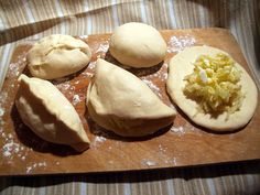 Making  piroshki with cabbage and eggs