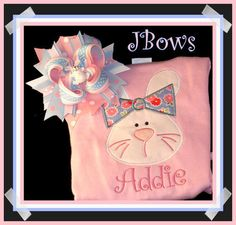 JBows  Bella Bunny Easter Applique Shirt w/ by jbowsboutique, $27.00