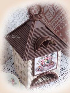 Paper Art, Diy And Crafts, Decorative Boxes, Weaving, Bird, Wallpaper, Outdoor Decor, Handmade, Home Decor