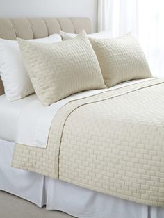 Bamboo Quilted Brick Coverlet Set by Pasadena Home Collection on Gilt Home