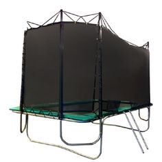 Texas Trampoline® Kids Delight 8X13 Rectangle Trampoline w/Safety Net Enclosure Combo