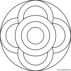 Großen und kleinen Kreise - Kinder Mandala mit verschiedenen Kreisformen