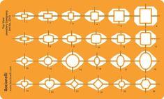 2 x Standardgraph 8191 Schablone Stano-Winkel 155 x 155 x 1,3 mm