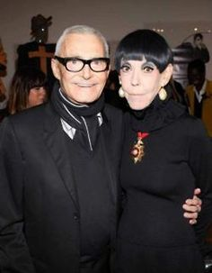 Vidal Sassoon and Peggy Moffitt at the MOCA and MAC Cosmetics reception and dinner in 2012.