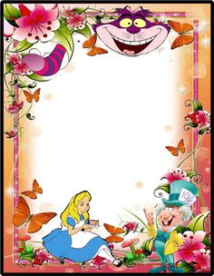Free Printable Alice In Wonderland Invitation Template Party In